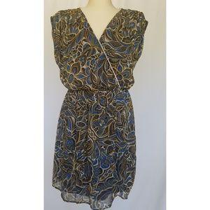 Petticoat Alley Blue Floral Cap Sleeve Dress